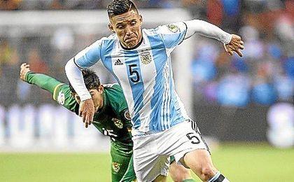 Kranevitter, en un partido con Argentina en la Copa América Centenario.
