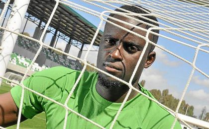 Alfred N�Diaye posando para ESTADIO Deportivo.