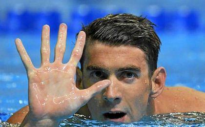 Michael Phelps tras asegurar su quinta participación en unos Juegos de Verano.