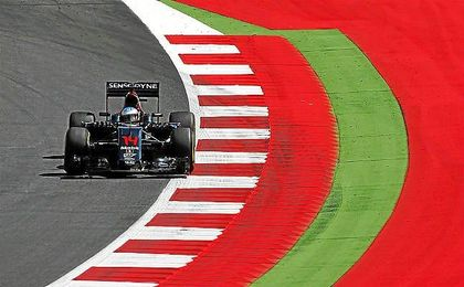 Fernando Alonso en el Red Bull Ring.