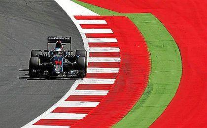 Fernando Alonso en el Red Bull Ring.