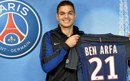 Ben Arfa luce como jugador del PSG.