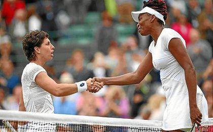 Carla Suárez da la enhorabuena a Venus