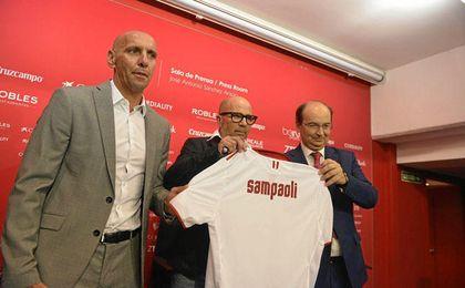 Sampaoli, en su presentación oficial.