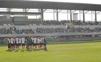 Imagen de la Ciudad Deportiva de esta tarde.
