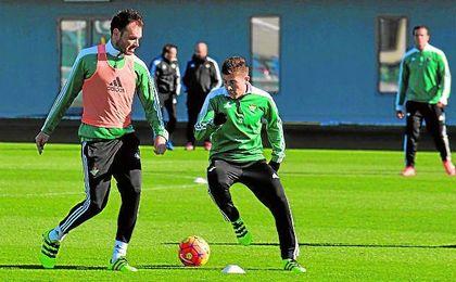 Westermann y Portillo continuar�n coincidiendo en los entrenamientos verdiblancos.