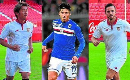 Kiyotake, Correa y Sarabia, tres de los muchos �jugones� que Sampaoli tendr� a sus �rdenes.