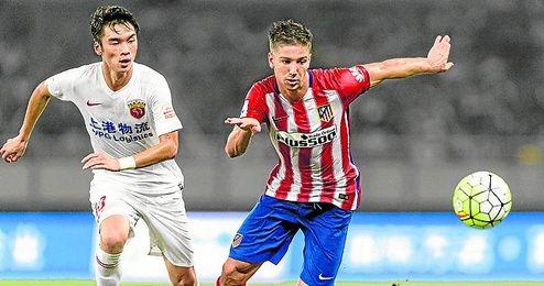 Vietto, con el Atlético de Madrid.