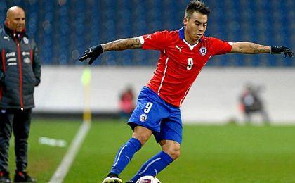Vargas, en el combinado chileno de Sampaoli.