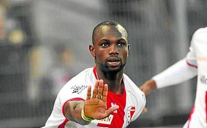 Moussa Kanoté, con la elástica del Sion.
