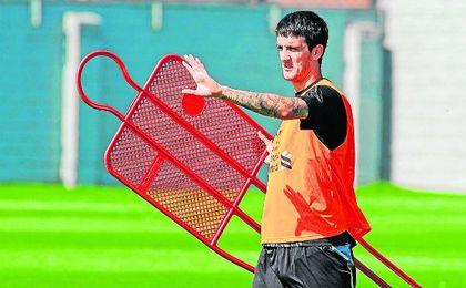 El vallesano Luis Alberto, durante un entrenamiento con el Liverpool.