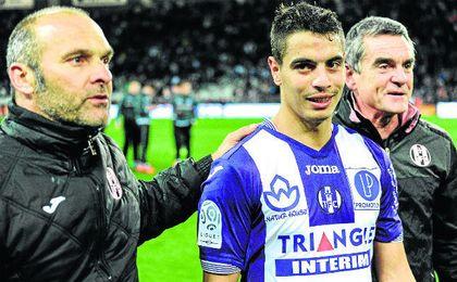 El franco-tunecino Wissam Ben Yedder, con la elástica del Toulouse.