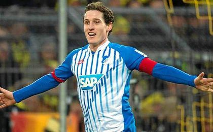 Sebastian Rudy, del Hoffenheim, está en la agenda de Monchi.
