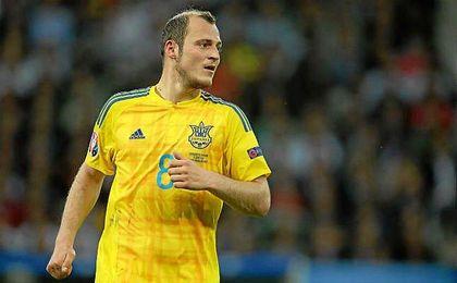 El delantero ucraniano, durante un partido con su selecci�n.