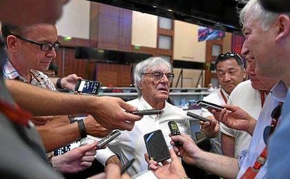 Bernie Ecclestone, patrón de la F1.