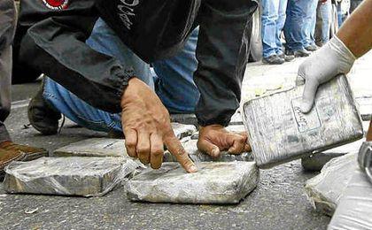 Panelas contenedoras de cocaína.
