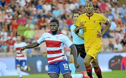 N�Zonzi, en el partido de ayer ante el Granada.