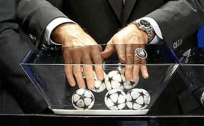 Sorteo de la UEFA en Nyon, Suiza.