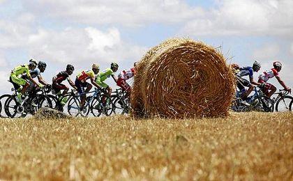 Imagen del pelotón en la séptima etapa de la Vuelta a Portugal.