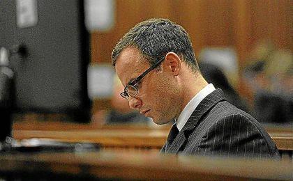 Pistorius, durante el juicio por la muerte de su pareja.