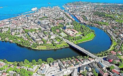 Imagen aérea de Trondheim.