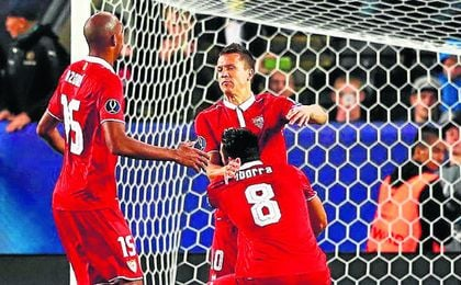 Imagen de la Supercopa de Europa frente al Real Madrid.