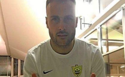 Juan Cala tras anunciar su fichaje con el Anzhi.