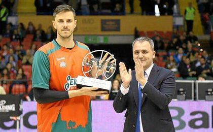 El esloveno se proclamó MVP Movistar del mes de marzo.
