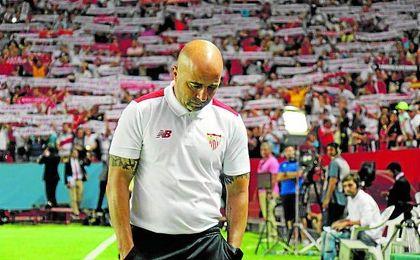 Lógicamente, Sampaoli no se mostró contento en rueda de prensa después de haber caído por 0-2 ante el Barcelona.