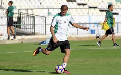 Joaquín solo ha podido estar hoy en la primera parte del entrenamiento.