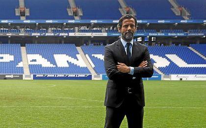 Quique, el día de su presentación con el Espanyol.