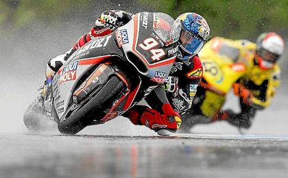 Folger, el más rápido sobre el mojado trazado de Brno.