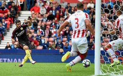 El delantero sanluque�o estren� su cuenta goleadora en la Premier League.