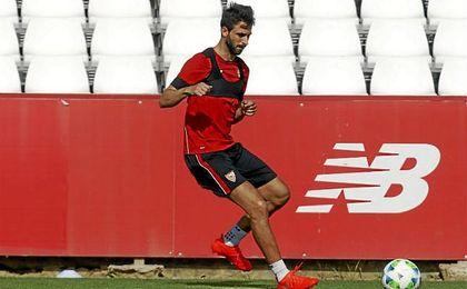 Pareja ha jugado 78 partidos con el Sevilla.