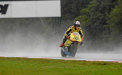 """""""Estaba entrenando con la 100cc y he tenido un caída"""", ha comentado el piloto."""