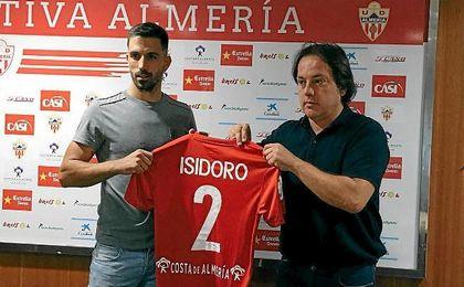Isidoro, en su presentación con la UD Almería