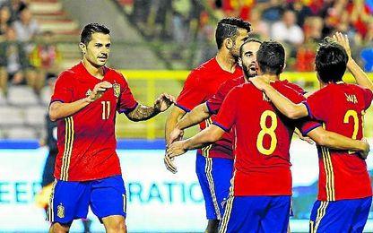 Vitolo participó en las dos dianas, Silva las marcó.