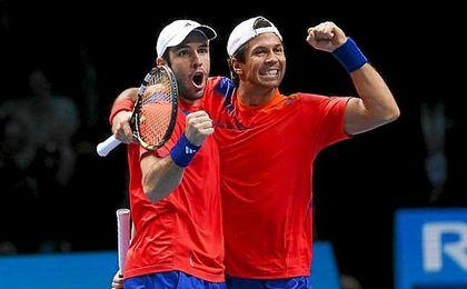 Fernando Verdasco y David Marrero celebrando su triunfo