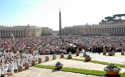 Más de 100.000 personas han acudido a la canonización de Teresa de Calcuta.