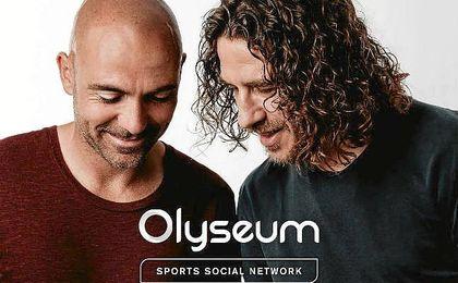 Carles Puyol e Iván de la Peña en la campaña publicitaria de Olyseum
