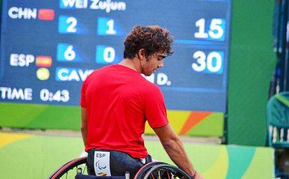 Dani Caverzaschi durante estos Juegos.