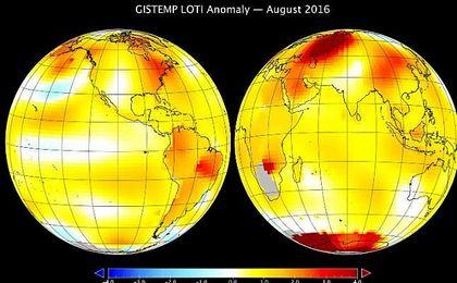 Agosto ha sido el mes más caluroso en la Tierra desde que hay registros