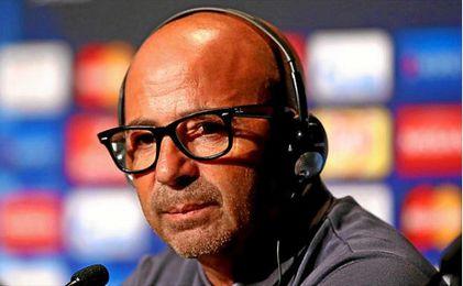 Jorge Sampaoli en rueda de prensa.