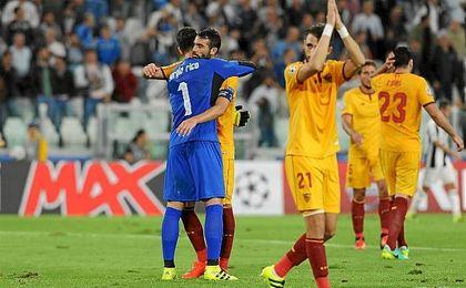 Sergio Rico tuvo una actuaci�n sobresaliente, con paradas que salvaron al Sevilla.