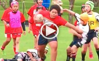 Rugby: el imparable ni�o con una fuerza sobrenatural