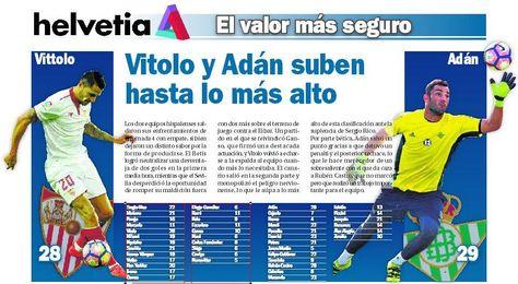 Vitolo y Adán suben hasta lo más alto