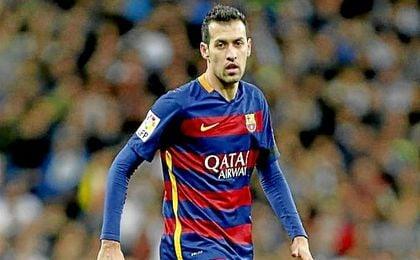 Sergio Busquet acumula 390 partidos desde que debutara con Guardiola.