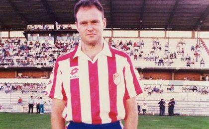 Pepe Mel con la equipación del Granada CF en su paso por el club granadino.