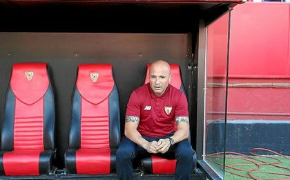 Jorge Sampaoli quiere ver la mejor versión del Sevilla ante el Alavés.