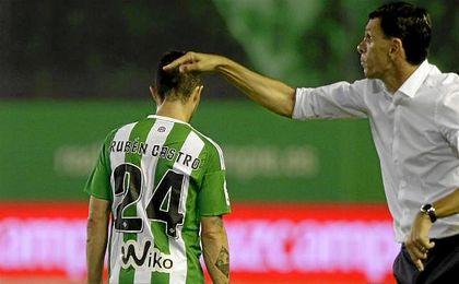 Rubén Castro fue uno de los cambios de Poyet en el partido ante el Málaga y ante la Real Sociedad.